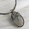 Moss Agate Owl Necklace