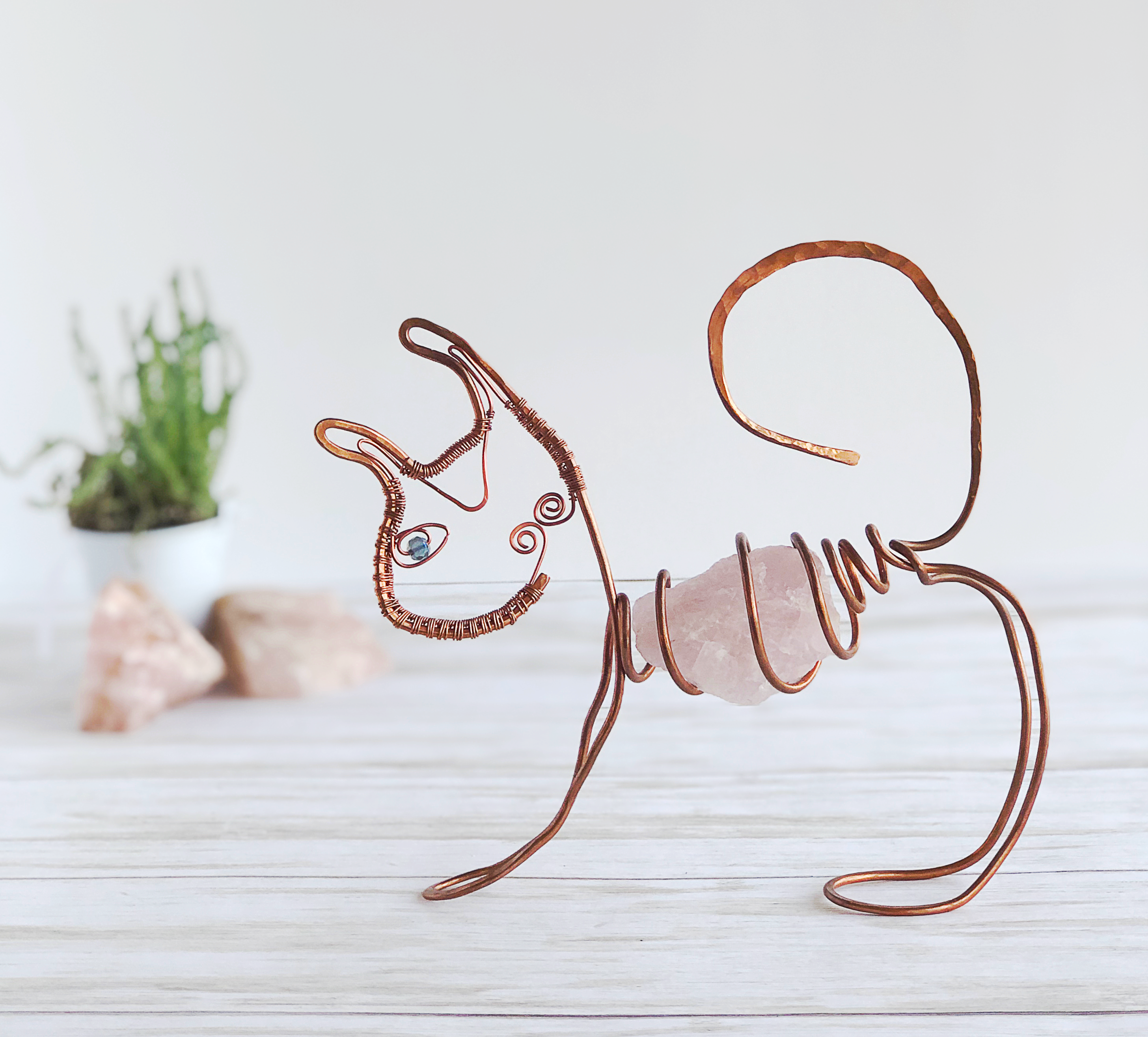 Wire Cat Sculpture
