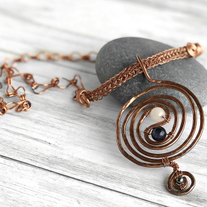 handmade copper necklace