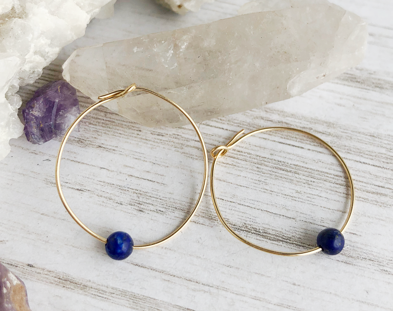 SOL gold hoop earrings