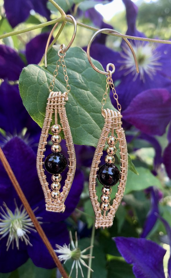 allura wire wrap earrings in gold fill