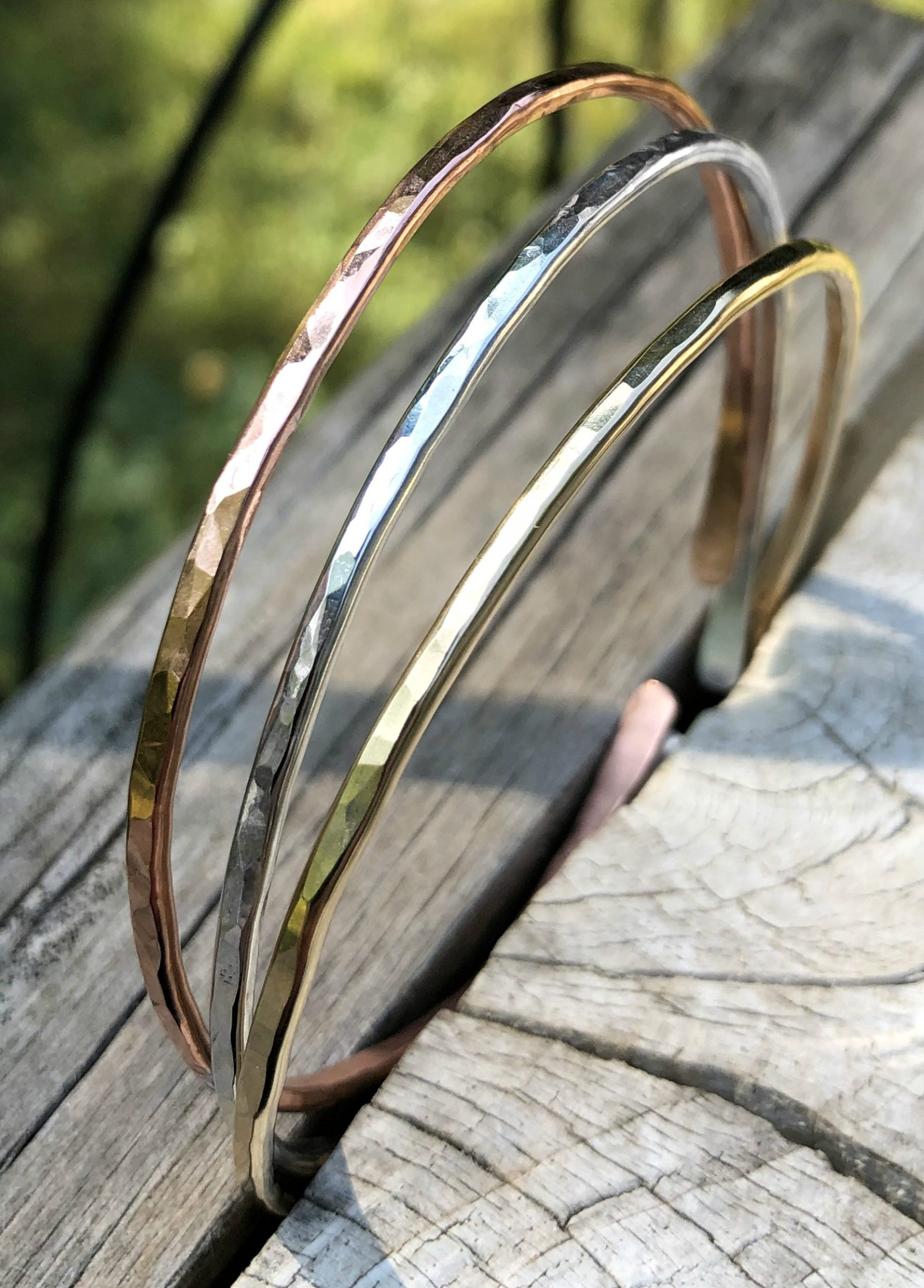 hammered cuff bracelets